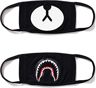 heartybay Mouth Mask Unisex Cartoon Anime Cute Shape for Kids Teens Men Women Lovers, Exo All Members Cotton Anti-Dust Windproof Motorcycle Face Masks