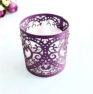 Chandelier D\u00e9cor-Candle Holders. Purple Victorian Tea Light-Votive Candle Holder Candle Holder Lamps