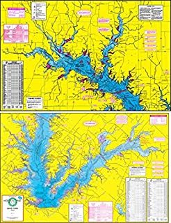 Topographical Fishing Map of Lake Fork - With GPS Hotspots