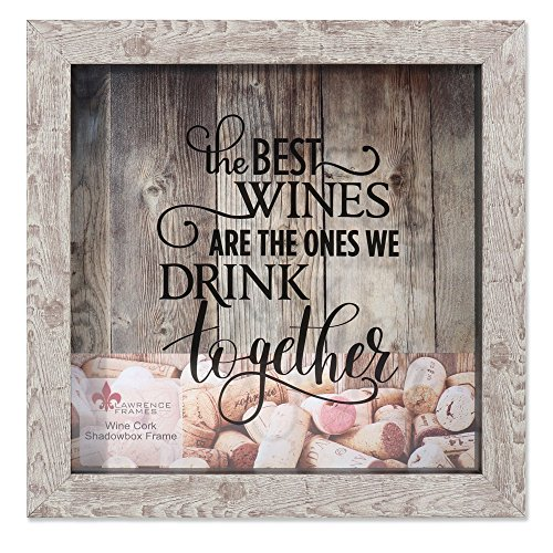 Lawrence Frames 10x10 Weathered Birch Shadow Box Wine Cork Holder 25,4 x 25,4 cm Weinkorkenhalter aus verwittertem Birkenholz, Birke