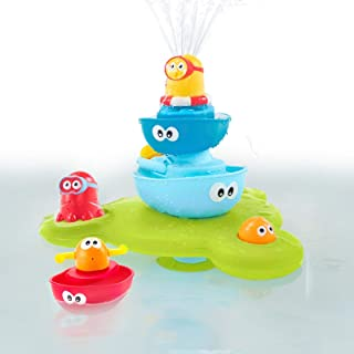 Yookidoo Stack N Spray Tub Fountain Bath Toy, Multicolor
