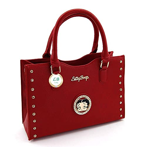 Betty Boop Premium Structured Handbag, Medium Size Satchel Style