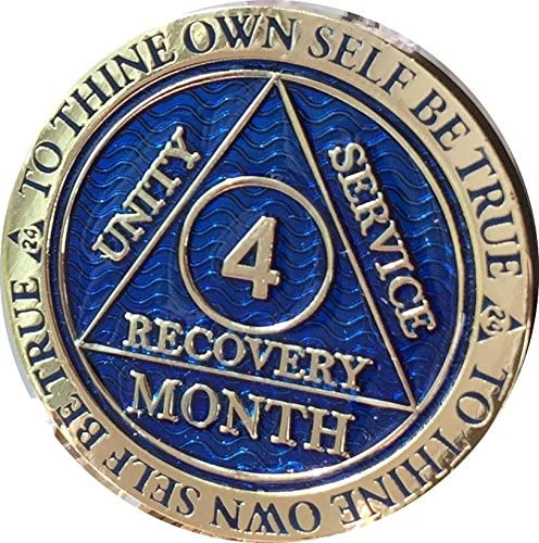 4 Product Month AA Medallion Reflex Blue Plated Chip 120 Ranking TOP8 Day Gold
