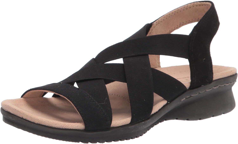 Large special price SOUL Naturalizer Women's Sandal Flat Manufacturer regenerated product Bluegrass