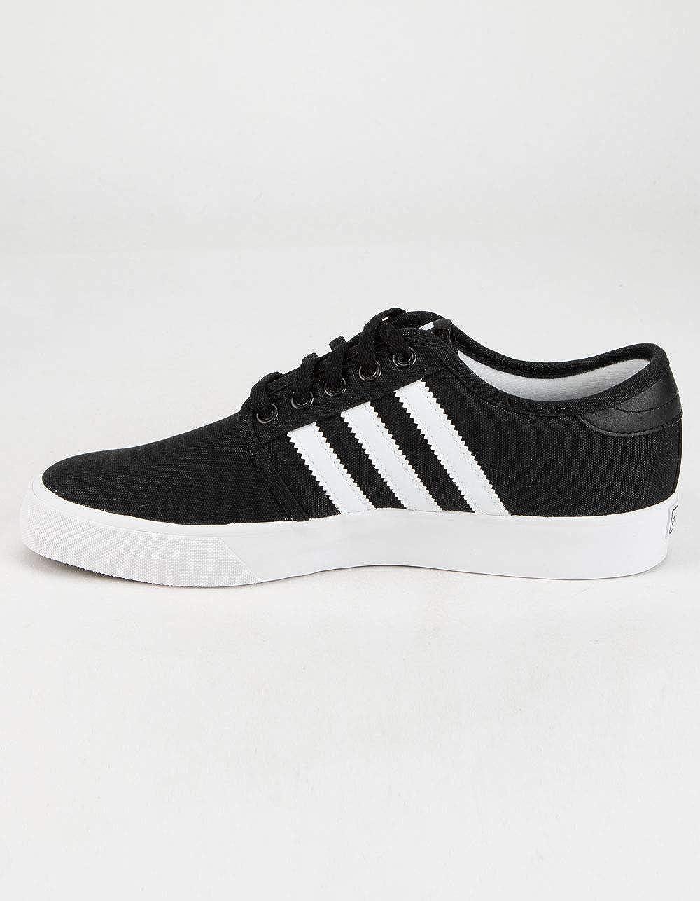 adidas Seeley J Boys Black & White Shoes   Sneakers - Amazon.com