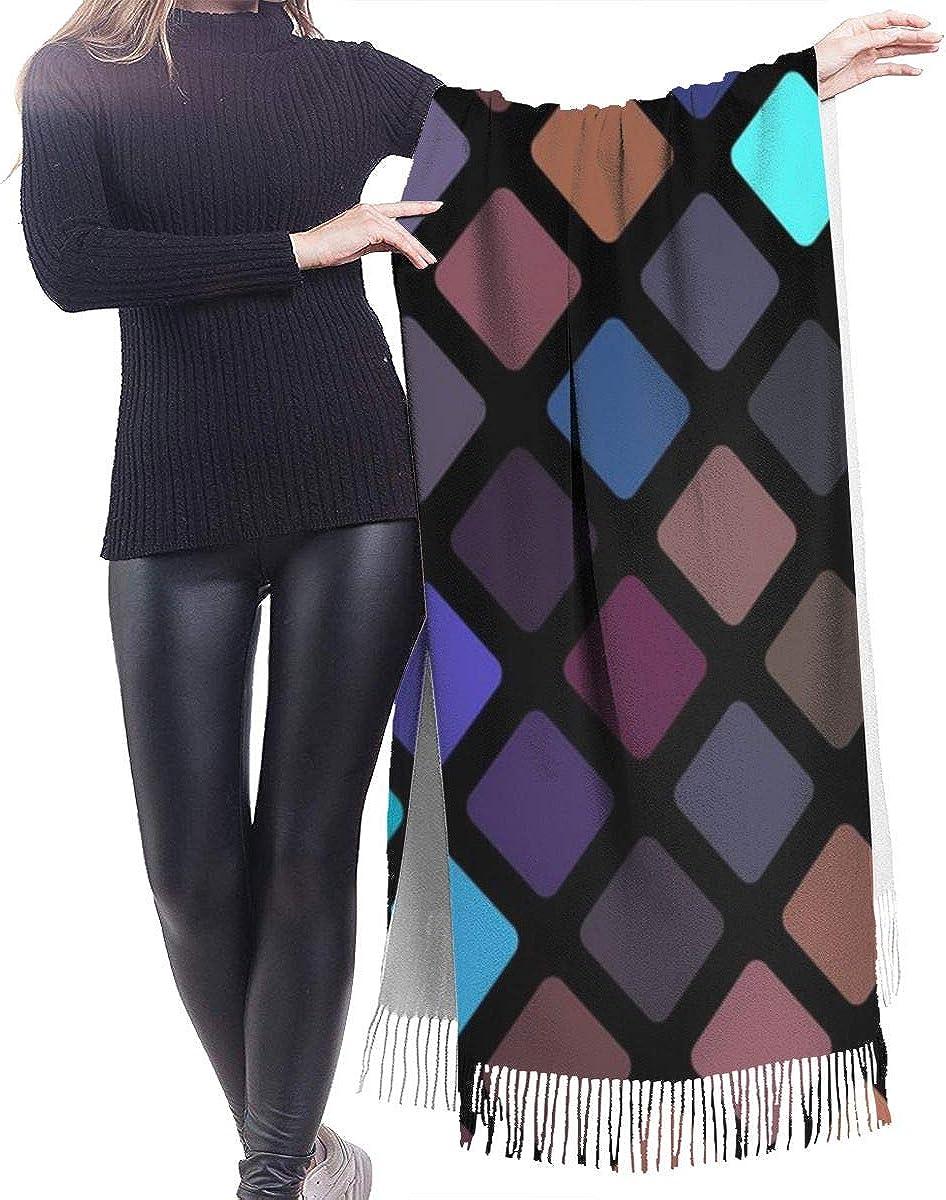 Rhomb Background Cashmere Shawl Wrap Scarf Large Warm Scarf For Women