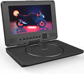 COOAU Portable DVD Player with HD Swivel Screen