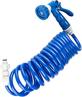 Dura Faucet DF-SA187-WT RV Exterior Quick Connect Sprayer & Hose Kit (Blue)
