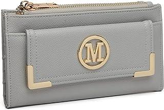 Miss Lulu Geldbörse Clutches Kleine Tasche Geldbeutel M Logo Mini Damen Envelope Neu Design Synthetic Leder Shopping Reise