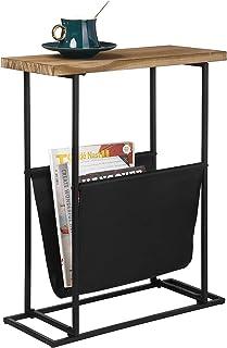 طاولة طرفية من الخشب والمعدن الحديثة 53.34 سم من ماي جيفت مع حامل المجلة