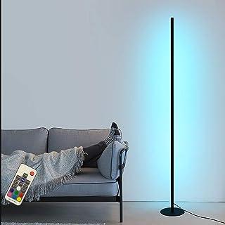 Lampadaire d'angle LED RGB Dimmable avec Télécommande Lampe sur Pied Variation D'intensité et Couleur Décoratif Eclairage ...