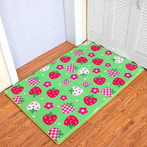 DSJ Fruit aardbeideur matras slaapkamer badkamer deur anti-slip matras deur zuigpad pad Home Entry Mat,80 * 100 cm