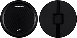 Ahead Chavez S-Hoop Marching Practice Pad without Snare Sound Black, Black 14 inches