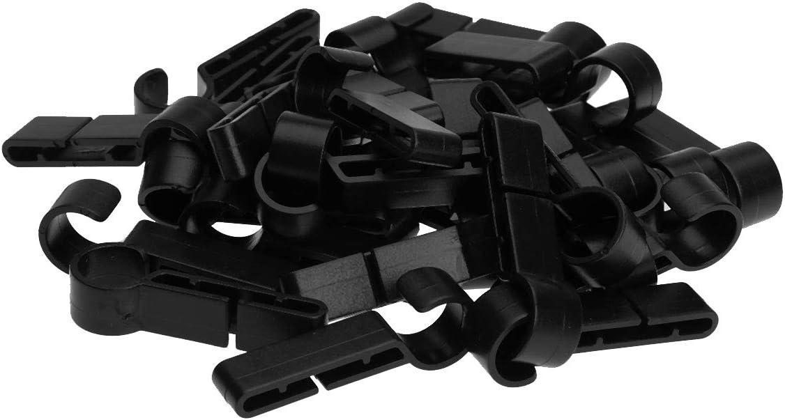 FEESHOW Clips para faros delanteros 30 unidades de ganchos para faros delanteros para varios faros y sombreros duros negro