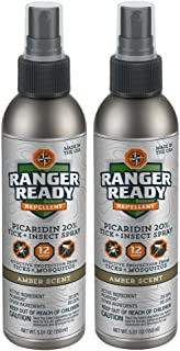 Ranger Ready Picaridin 20% Tick + Insect Repellent   Amber Scent 2 Pack - 2X 100ml(3.4oz)