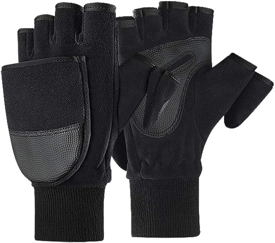 Convertible Flip Top Gloves Cold Weather Winter Mitten Hand Warmer Women Men