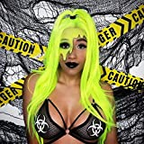 Sapphirewigs Neon Yellow Silky Soft Cosplay Blogger Celebrity Queen Makeup Party Synthetic Lace Front Daily Wigs lace wigs Nov, 2020