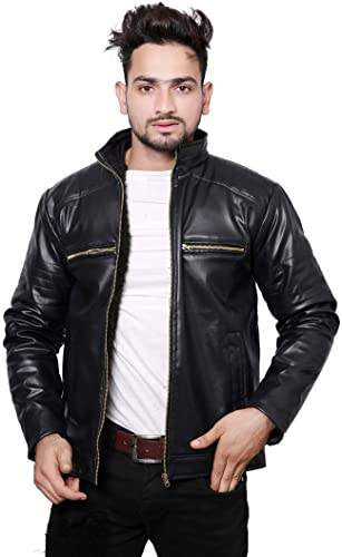 Casual Shine Leather Jackets For Mens And Boy Men Jacket Black