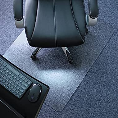 Marvelux 36  x 48  Polycarbonate (PC) Rectangular Chair Mat for Low, Standard and Medium Pile Carpets | Transparent | Multiple Sizes