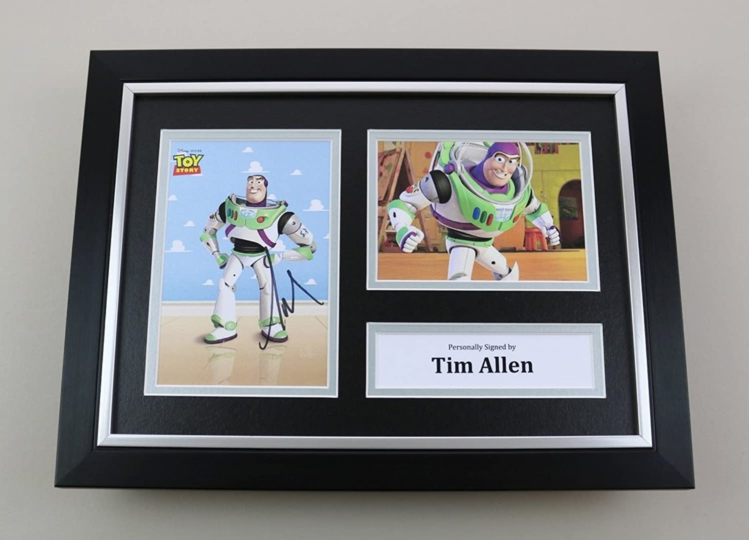 Tim Allen Signed A4 Photo Framed Toy Story Memorabilia Autograph Display COA
