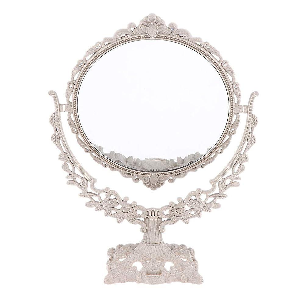 方法成分落ちたP Prettyia メイクアップミラー 化粧鏡 360度スイベル フリースタンド式 3タイプ選べ - 円形