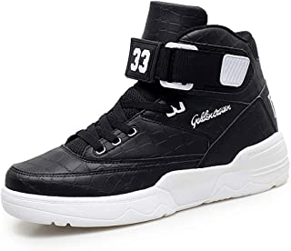 Hmulan Mens High-top Casual Shoes Fashion Sneakers Breathable Walking Men Shoes