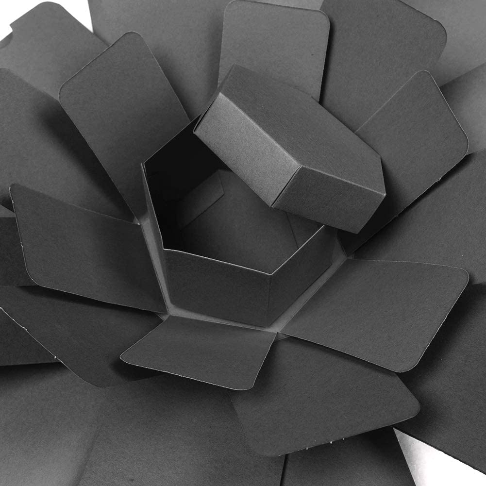 Coffret Cadeau Explosion Surprise Cr/éative Album de M/émoire Bricolage /à la Main Album Scrapbook Anniversaire Mariage Cadeau Saint Valentin Noir Ecotrump Bo/îte /à Explosion Surprise