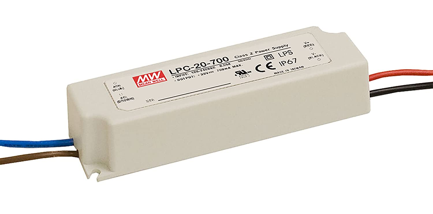 MEAN WELL LPC-20-700 AC-DC Power Supply Enclosed LED Single Output