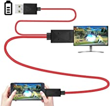 Nrpfell 6.5 Feet MHL Micro-USB to HDMI Adapter Converter Cable 1080P HDTV for Android Devices Samsung Galaxy S3 S4 S5 Note 3 Note 2 Note 8 Note Pro Galaxy Tab 3 (11 Pin, Red)