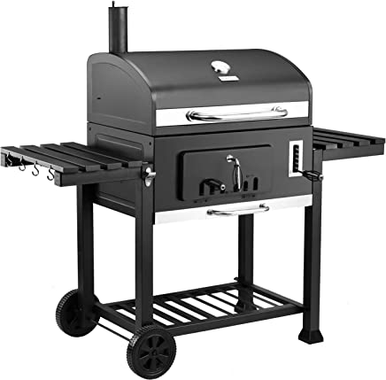"Royal Gourmet CD2030 Charcoal Grill Large 30"", Outdoor Barbeque, Backyard Cooking, Black"
