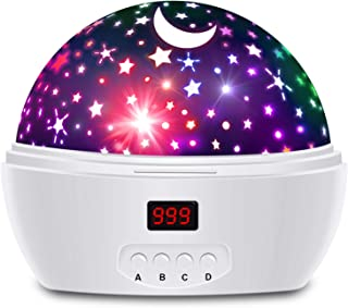 HXSNEW Star Projector with Timer and Rotation, Night Lights for Kids Girls Boys and Baby, 16 Color Lighting Modes Projection Lights for Bedroom, Kids Gifts for Christmas Birthday Baby Shower