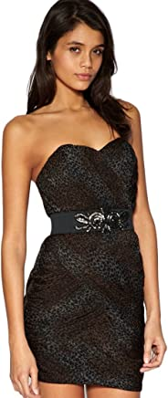 e7c29bdcfa7a Lipsy Pixie Lott Mesh Bandeau Corset Dress in Leopard Print with  Embellished Waist