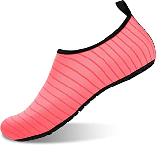 Men And Women Water Shoes Barefoot Quick-Drying Water Socks Striped Beach Shoes for Outdoor Swimming Yoga Fitness