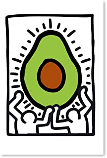 Funny Ugly Christmas Sweater Keith Haring Unframed Poster Art Print Reproduction Pop Art Decor Printed Art Picture Graffiti Printed Avocado Poster Keith Haring Print 8