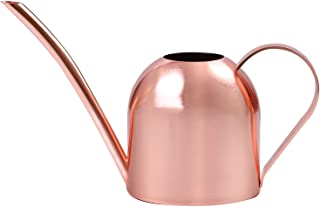 URATOT 500 ml Rose Gold Watering Can Stainless Steel Watering Pot Sprinkling Pot for Indoor Outdoor House Planting, Gardening