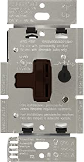 brown toggle switch with dimmer
