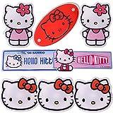 TE-Trend 8 Piezas Sanrio Hello Kitty 3D Efecto Adhesivo Pegatina Set Scrapbook Kindersticker Chica Etiquetas Adhesivas