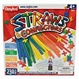 Roylco Straws and Connectors Building Kit - 8 inches - Pack of 230 - Assorted Colors by Roylco