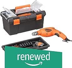 (Renewed) Black + Decker HD400BX 500-Watt Impact Drill Kit in Storage Box (Orange, 103-Pieces)