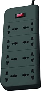 Belkin Essential Series 8-Socket Surge Protector Universal Socket with 6.5ft Heavy Duty Cable (Grey)