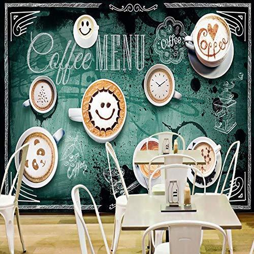 3D-Wandbild Benutzerdefinierte Fototapete Benutzerdefinierte kreative Kaffeetasse 3D-Stereo-Wandcafé Wandbild Lobby-Besprechungsraum-Hintergrundbild-250X200CM