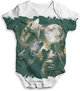 Funny Baby Clothes Wolfpack Moon