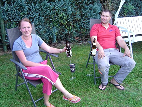 Flaschenhalter Belygluckgluck 2 Bierflaschenhalter Partyset Grillparty Windaschenbecher Art Set