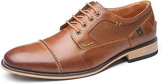 WMZQW Chaussure Homme Cuir Classique Brogues Chaussures de Ville à Lacets Derby d'affaires Oxfords Mariage Noir Marron 40-50