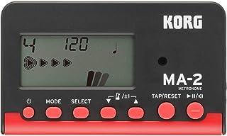 KORG メトロノーム MA-2 BKRD ブラックレッド 吹奏楽 ブラスバンド オーケストラ ギター 声楽 アカペラ 個人練習に最適 100時間連続稼働 軽量 コンパクト
