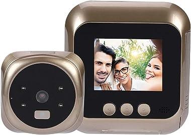 Zopsc 2.4 Inch HD Smart Doorbell Viewer Door Peephole Viewer with Intelligent Vision Door Camera Monitor Indoor Viewer 4.3 In