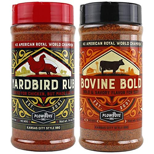 Plowboys BBQ Bovine Bold & Yardbird Seasoning Rub Award Winning Barbeque Rub