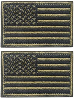 American Flag Patch, Tactical Military Flag Patches, American Military Flag Emblem Patch. (Army Green)