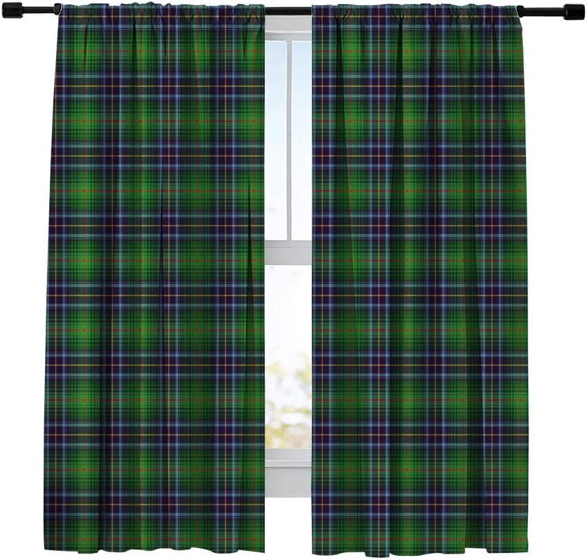Miblor 本物◆ Blackout Curtains for Bedroom 新作入荷 Living Room Tartan Kitchen
