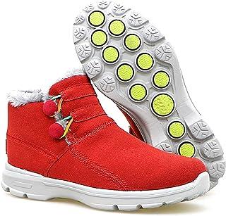 [MUMEOMU] スノーブーツ 綿靴 裏起毛 雪靴 カジュアル ハイカット ウインターブーツ アウトドア 保温 防水 防寒 防滑 ファー付き 女 冬 レディース